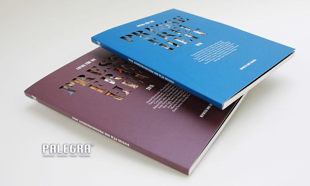 PALEGRA Laserschnitt Pressefreiheit Softcover Buchtitel
